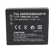 1400mAh 3.7V Digital Camera Battery S005/BCC12 for PANASONIC DMC-FX8