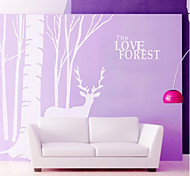 Animals Botanical Wall Stickers Plane Wall Stickers Decorative Wall Stickers Material Washable Removable Home Decoration Wall Decal