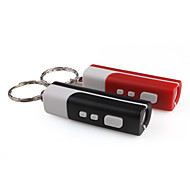 Mini LCD Flashlight-Style Digital Projection Keychain Clock Random Ship