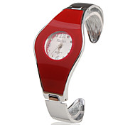 Stainless Steel Bracelet Band Wrist Watch - Red