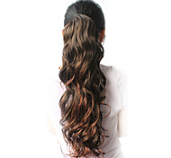 "High Quality Synthetic 21.65"" Beautiful Curly Dark Gray Ponytail"