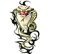5 Pcs Snake Waterproof Temporary Tattoo(6m*6cm)
