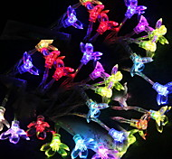 2.5M 3W 20-LED Colorful Light Plum Blossom Design LED String Lamp (3xAA)