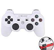controlador inalámbrico de dos tonos goigame para ps3 (blanco + rojo)