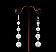 Orecchini con perle d'imitazione placcatura in lega da sposa