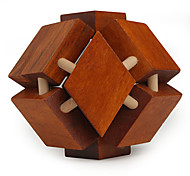 Wooden IQ Brain Teasr Polyhedron Lock IQ Puzzle Magic Cube