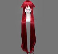 Pelucas de Cosplay Black Butler Grell Sutcliff Rojo Largo Animé Pelucas de Cosplay 90 CM Fibra resistente al calor Hombre