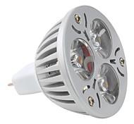 Spot Blanc Naturel MR16 GU5.3 3 W 3 LED Haute Puissance 270 LM K DC 12 V