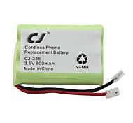 3.6V 800mAh Cordless Phone Replacement Ni-MH Battery CJ-336