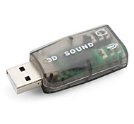 USB 2.0 Virtual 3D Audio Sound Card (5.1ch, Gray)