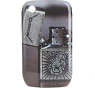 estuche protector patrón claro para blackberry 8520, 8530, 9300, 9330