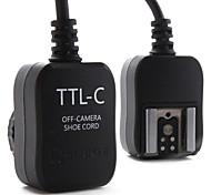e-ttl flash off cabo de câmera para canon 430EX, 580EX II e 380EX (preto)
