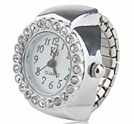 Women's Alloy Analog Ring Watch (Silver)