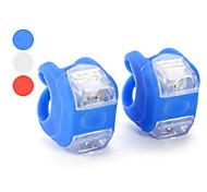 set de deux lampes de vélo de silicium de sécurité arrière réchauffement