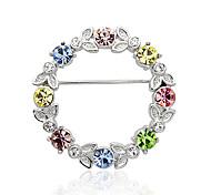 lureme®multicolor cristal austríaco broche coroa