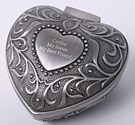 Personalized Vintage Tutania Heart Design Jewelry Box