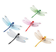 Colorful Dragonfly Shaped Fridge Magnets (5-Pack)