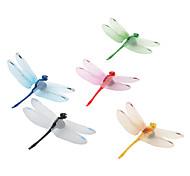 coloridos imanes de nevera con forma de libélula (5-pack)