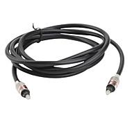 de fibra óptica de audio digital Toslink macho a cable macho (3 metros)