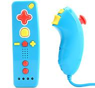 mini MotionPlus telecomando e nunchuk controller per wii / wii u (blu)