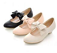 PU de cuero de 3 cm zapatos planos Sweet Lolita