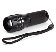 LED Flashlights/Torch / Handheld Flashlights/Torch LED 3 Mode 600 Lumens Cree XR-E Q5 AAA Others , Black Aluminum alloy