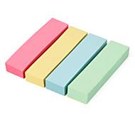 4 Colors Mini Sticky Memo Pads Set