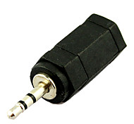 3.5mm jack hembra de 2,5 mm adaptador convertidor de enchufe macho de audio