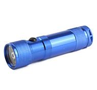 2-Mode Aluminum Alloy 8-LED Flashlight (3xAAA, Blue)