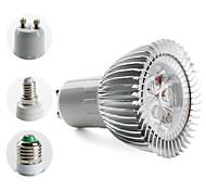 Focos PAR/MR16 E14/E26/E27/GU10 W 3 LED de Alta Potencia 270 LM 3000K K Blanco Cálido AC 85-265 V