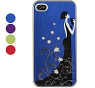 caso padrão moderna garota de proteção para iphone 4 e 4S (cores sortidas)