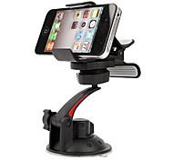 Universal-Dreh-In-Auto Halter für iPhone 4, 4S und Samsung i9220, i9250 und GPS (Schwarz)