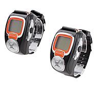 gémeos multi-canal recarregáveis walkie talkie estilo relógios de pulso (2,5 milhas gama, 2-pack, preto)