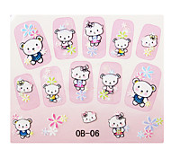 Korean Cartoon Series 3D Nail Sticker