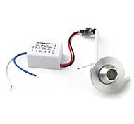 1w 100lm 6500k белой светодиодной лампы на потолке вниз свет с руководством водителя (AC 85 ~ 265V)