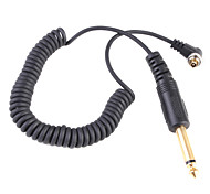 6,35 mm para el cable macho cable de sincronización con el tornillo de bloqueo de 1 m