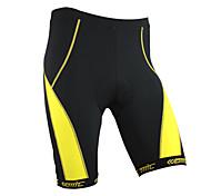Santic-Cycling Shorts Men and Women's Coolmax Material Cycling 1/2 Shorts(Yellow)