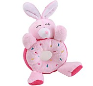 Rabbit Donut Style Squeaking Pet Toy for Dogs (16 x 10 x 3, Pink)