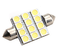 high-performance 39 mm 12 * 5050 SMD witte led auto signaallamp