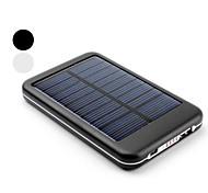 Batterie Externe USB à Energie Solaire pour iPhone, iPad, Téléphones Portables, 5000mAh