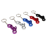 Motorcycle Shaped Aluminum Keychain Bottle Opener (Random Colors)
