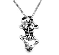 Eruner®Titanium Steel Skeleton Pendant Necklace