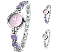 Women's Fashionable Style Alloy Analog Quartz Bracelet Watch (Assorted Colors)