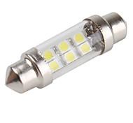 6 x 36 milímetros 1210 SMD LED branco luz festão carro