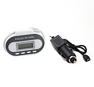 Full Range FM Transmitter with Digital Thermometer and USB Power Port