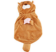 Cute Tiger Style Coat for Dogs (XS-XL, Brown)