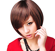 Capless Short Top Grade Quality Light Brown Curly Fashionable Hair Wig