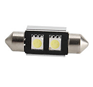 CANBUS Festoon 36mm 0.5W 2x5050 SMD White LED Car Signal Light