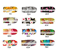 Arabesque 12 Tips Nail Art Stickers