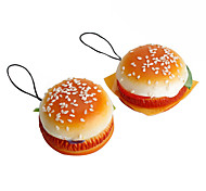 Soft Hamburger Shaped Keychain (Random Colors)